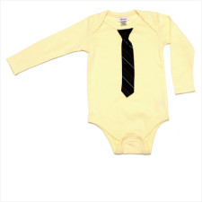 Little Man Long sleeve Onesie with Tie