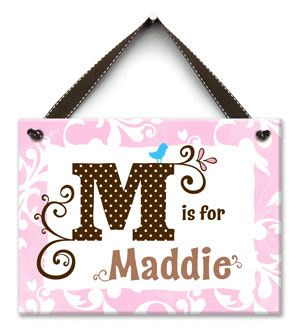 M is for ME Personalized Wall Tile