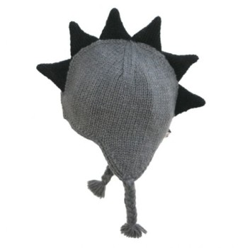 mohawk hat gray with black spikes