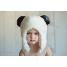 Panda Fur Hat for Babies