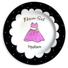 flower girl personalized plate