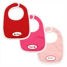 personalized bib set for baby girl