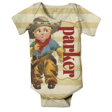 cowboy personalized onesie