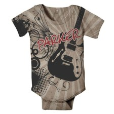 my guitar personalized onesie