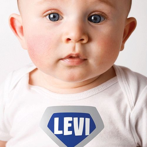Super Badge Personalized Baby Shirt