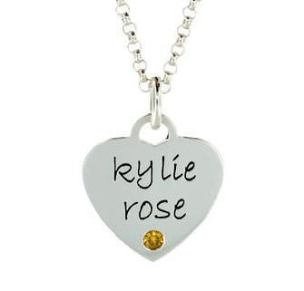 My Sweetheart Birthstone Necklace for Girls