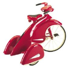 red 1936 sky king tricycle