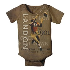vintage football personalized onesie