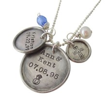 Vintage Charm Disk Necklace