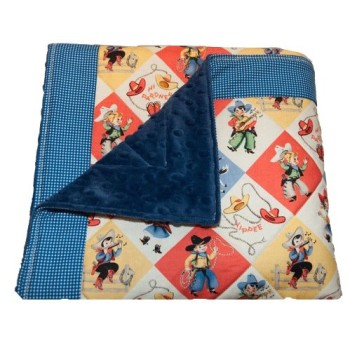 Retro Western Quilted Baby Blanket