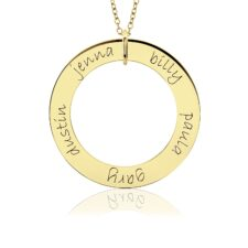 Gold Posh Loop Mom Necklace