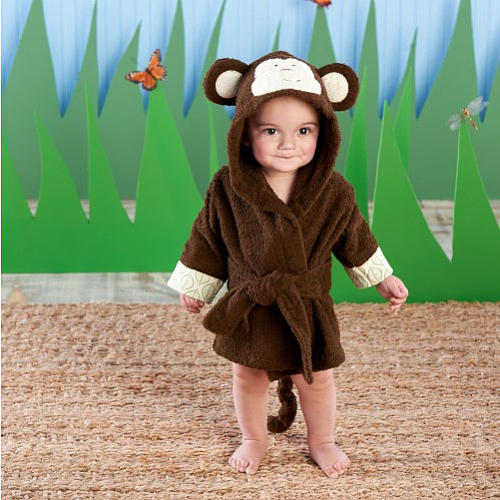 Born to be Wild Monkey Baby Robe