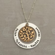 Mixed Personalized Family Tree Necklace