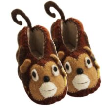 Monkey Slippers for Baby