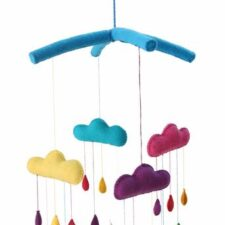 Rainbow Drops Baby Mobile